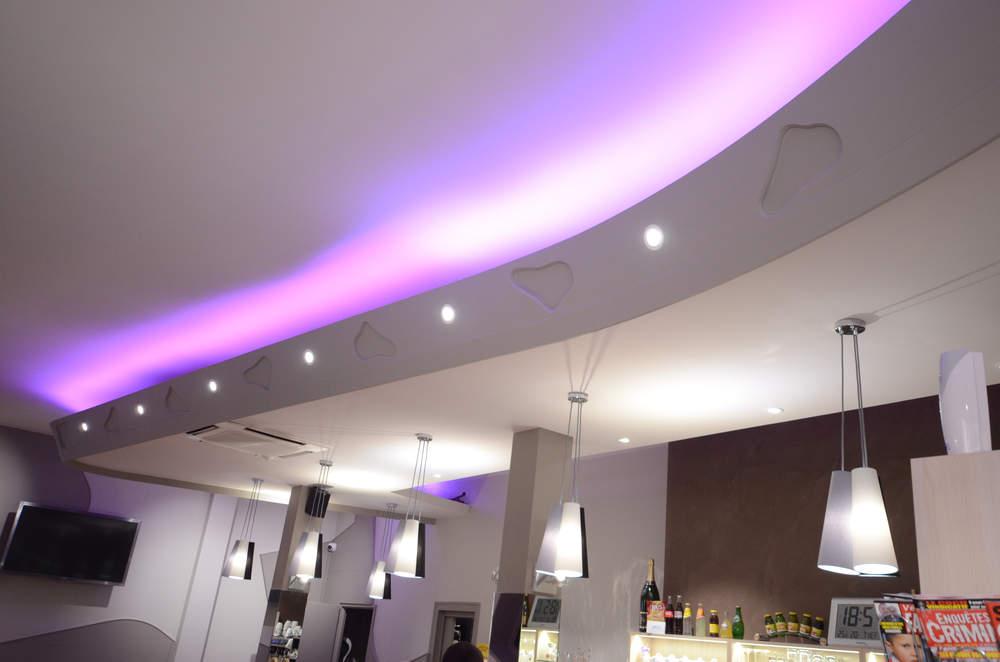 Eclairage bar - Agencement Montmélian 73