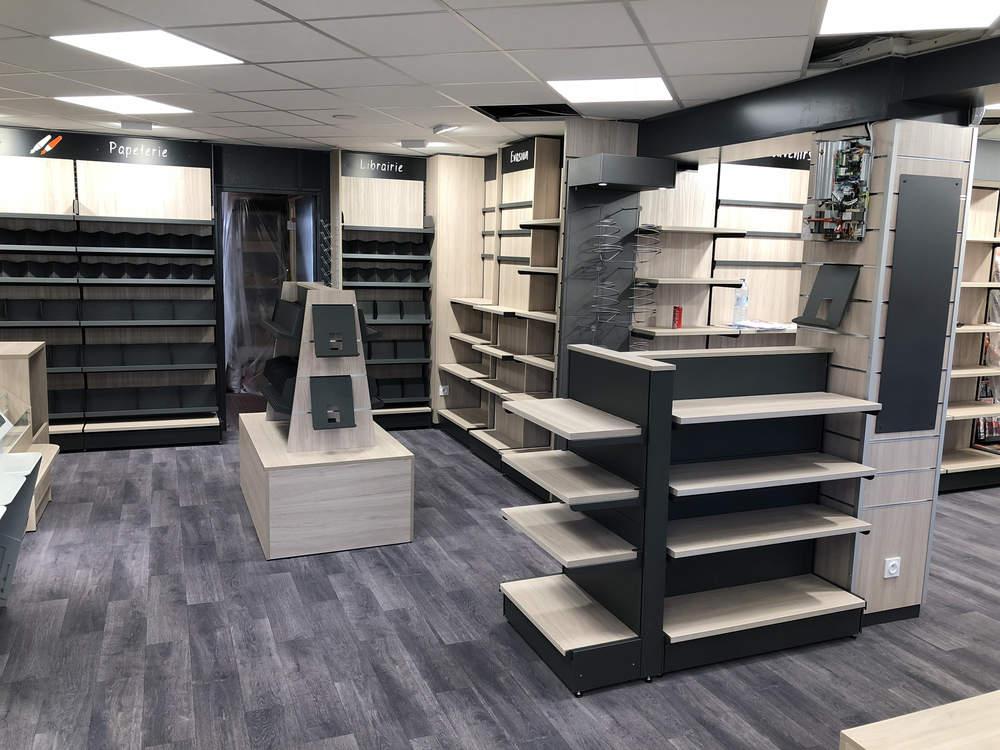 Mobilier librairie papeterie - Agencement Autrans 38