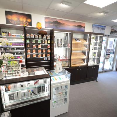 Mobilier e-cigarettes, cigares - Agencement Meythet 74