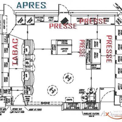 Plan après modernisation - Agencement Le France Annecy 74