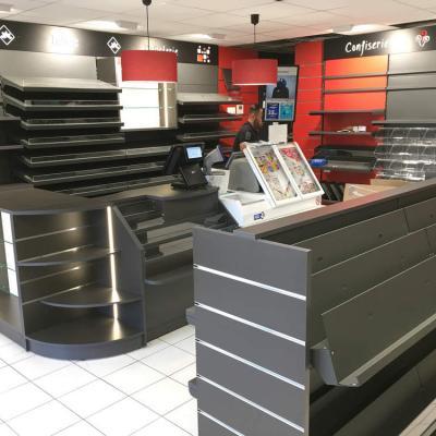 Comptoir et mobilier tabac - Agencement Claix 38