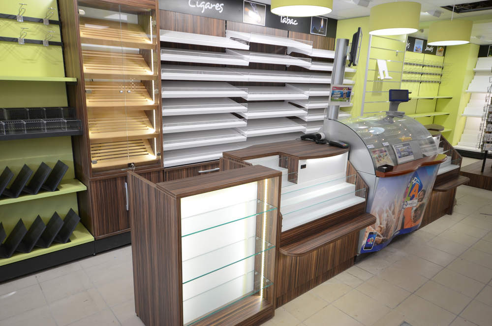 Mobilier tabac - Agencement rdc Les Gets 74