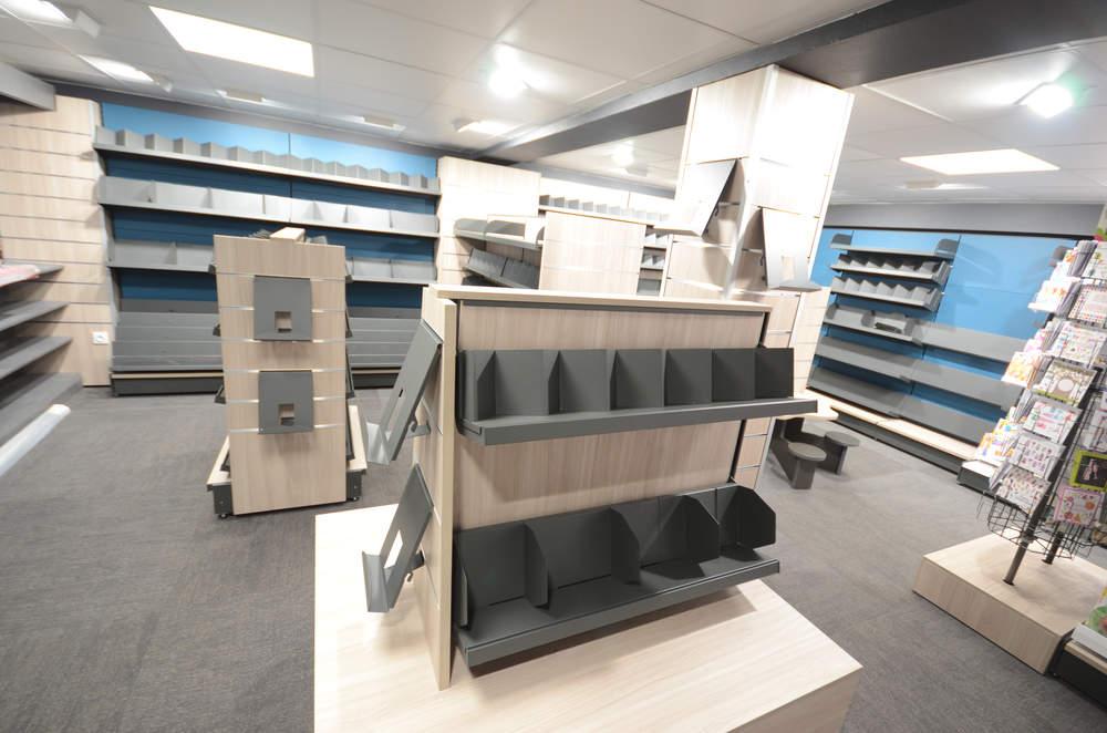 Podium librairie vue 2 - Agencement sous-sol Les Gets 74