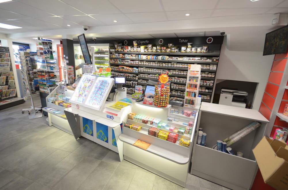 Mobilier tabac et comptoir - Agencement Moutiers 73