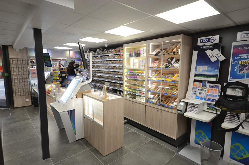 Mobilier tabac et e-cigarettes - Agencement Thonon-les-Bains 74